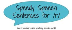 Speech sentences for /s, z, r/ focusing on core vocabulary: science, math, english