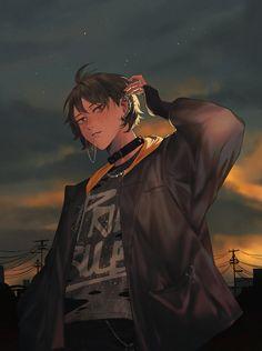 Haikyuu Karasuno, Haikyuu Fanart, Haikyuu Anime, Manga Anime, Fanarts Anime, Anime Art, Yamaguchi Haikyuu, Yamaguchi Tadashi, Hot Anime Boy