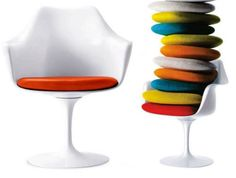 Vinyl Cushions For Saarinen Tulip Chairs Or Burke Chairs Chair Upholstery, Chair  Cushions, Tulip