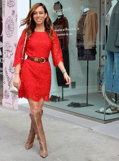 pretty red lace dress  Celebrating Friendship With Scented Warmth Sydne Style – Sydne Style