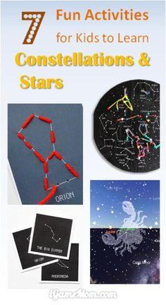 fun activities for kids to learn stars and constellations. STEM projects for young astronomers for the summer night stargazing party You are in the right place about space activities for kids science Space Activities For Kids, Fun Crafts For Kids, Stem Activities, Learning Activities, Kids Learning, Party Activities, Earth Science Projects, Stem Projects, Science Experiments Kids