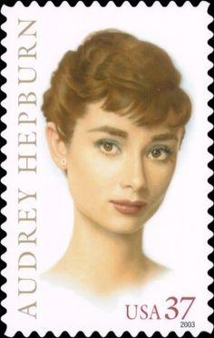 Audrey Hepburn [Legends of Hollywood] Actress 2003 USA Stamp