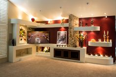 cosy drywall entertainment centers. TCD Phoenix designs and builds custom media walls  entertainment centers drywall niches in Scottsdale Goodyear surrounding areas Remodel Ideas Pinterest