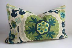 Bohemian Suzani Pillow Cover / 12x20 LUMBAR by DecidedlyChic