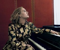 Адель в Vogue US