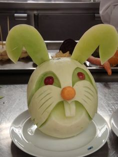 The cantaloupe bunny I want to make one of these one-day to this thing is incredibly cute maybe to keep to eat