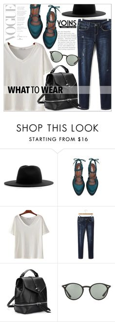 """""""Yoins 30"""" by that-chic-girl ❤ liked on Polyvore featuring Études, Ray-Ban, yoins, yoinscollection and loveyoins"""