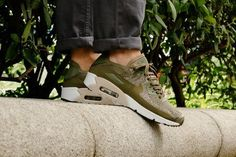 designer fashion 81015 d550b NIKE AIR MAX 90 ULTRA 2 0 FLYKNIT MEDIUM OLIVE STRING SNEAKERS ALL SIZES