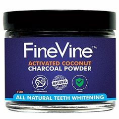 All Natural Teeth Whitening Powder - Made in USA with Coconut Activated Charcoal - Safe Effective Tooth Whitener Solution. Better than Strips Kit Gel & Whitening Toothpaste.