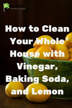 Create your own home cleaning products using Vinegar, Baking Soda, and Lemon. These DIY Cleaners are safe for you, your children, and the environment.