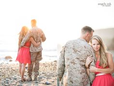 Love all these couples photos... They would be invaluable to both of us during the deployment!