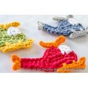 Helicopter Applique Crochet