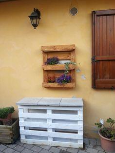 Le mie creazioni..tavolino e porta fiori#bancali riciclati#