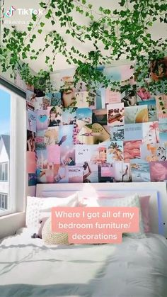 Cute Bedroom Decor, Cute Bedroom Ideas, Room Ideas Bedroom, Teen Room Decor, Girls Bedroom, Bedroom Ideas For Small Rooms For Teens, Diy Room Ideas, Diy Room Decor Videos, Cool Teen Rooms