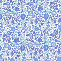 Liberty Fabric Danjo D Pale Blues Tana Lawn