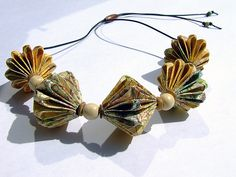 peak district origami bead necklace | Flickr - Photo Sharing!