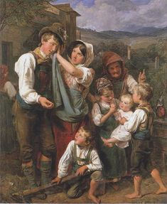 Ferdinand Georg Waldmüller  The homecomming 1833