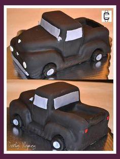 3D PICK UP CAKE , FONDANT SCULPTED CAKE