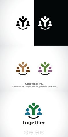Happy People Together Logo Template Logo Branding, Branding Design, Logo Design, Id Digital, Happy Logo, Conference Logo, Banner Design Inspiration, Persona Feliz, Family Logo