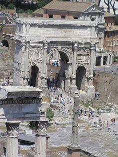 Roman Forum - arch of Septemius Severus
