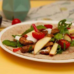 Hverdagswraps med kylling Garam Masala, Caprese Salad, Feta, Tacos, Wraps, Mexican, Cheese, Chicken, Ethnic Recipes