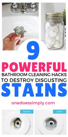These house cleaning hacks to tackle disgusting stains in the bathroom are AWESOME! I'm so glad that these genius hacks do exist in this world! Deep Cleaning Tips, House Cleaning Tips, Cleaning Solutions, Spring Cleaning, Cleaning Schedules, Cleaning Recipes, Bathroom Cleaning Hacks, Toilet Cleaning, Cleaning Toilets