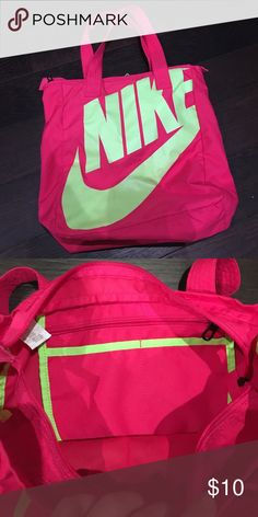Nike bag good used condition, little zipper pocket on inside. Nike Bags Totes