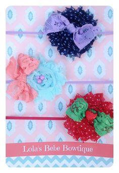 Baby Girl Headbands..Baby Headbands..Newborn por LolasBebeBowtique, $14,00