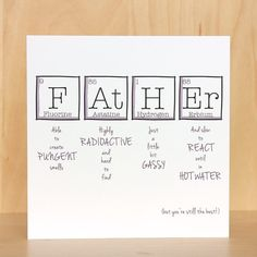 Square Fathers Day Or Birthday Card With The Wording Father Able To Create Pungent