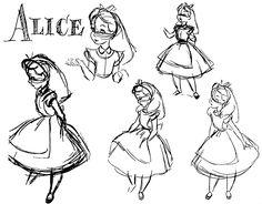 Disney's Alice in Wonderland Model Sheets