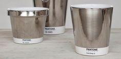 Silver Pantone flower pots