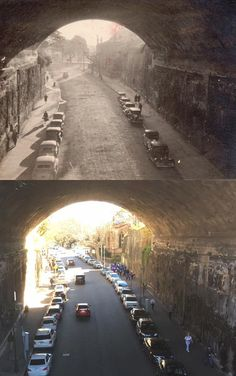 The Argyle Cut viewed from the Cumberland Street Bridge, The Rocks early > [early Essex's family collection > Phil Harvey. By Phil Harvey] The Rocks Sydney, Phil Harvey, The Argyle, Dark Stories, As Time Goes By, Amazing Pics, Historical Photos, Interesting Stuff, Old Photos