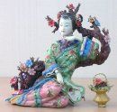 Chinese Oriental Great Beauty Ceramic Lady Figurine - Dream Of T
