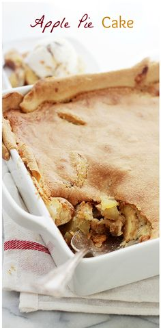 Delicious, lightened-up pie crust filled with a decadent apple mixture and topped with a soft and sweet cake batter. It truly is the best of both worlds!