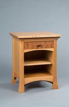 Pinnacle Nightstand with Drawer & Shelf