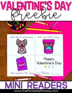 Check out this list of Valentine's Day read alouds. You'll find tons of great options for your PreK, Kindergarten, or First Grade classroom. Be sure to download the Valentine's Day emergent reader freebies! The freebie includes three no prep mini readers which are great for beginning readers. Students can feel successful as they read the predictable text. Plus you can sneak in some sight word practice as they highlight words that they know.
