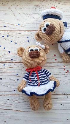 PATTERN Crochet Bear / Amigurumi Bear / Plush Bear Related posts:Grey Totoro Amigurumi Crochet Pattern ❤️ Mycrochetpattern - free crochet stitches by Daisy Farm Crafts 40 free crochet s. Crochet Teddy, Cute Crochet, Crochet Dolls, Mini Amigurumi, Amigurumi Doll, Crochet Bear Patterns, Crochet Animals, Amigurumi Patterns, Diy Clothes Videos