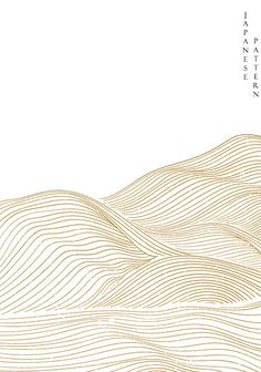 #Japanese #wave #pattern #abstract #background #vector #Gold #line #elements #template #oriental #style Wave Pattern, Abstract Pattern, Oriental Fashion, Oriental Style, Website Illustration, Minimalist Landscape, Japanese Waves, Japanese Patterns, Textured Wallpaper