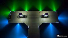 LIFEFORM LED LF5 Underwater LED Dock Lighting System installed in McCall Idaho