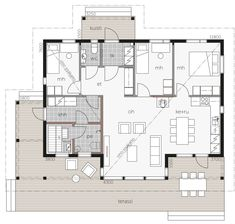 Usva / Kontio Small House Plans, House Floor Plans, Home Technology, Sweet Home, How To Plan, Building, Bungalows, Home Decor, Sims