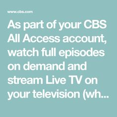 8 Best Cbs all access Coupons images in 2017 | Cbs all