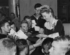 Ann Sheridan at the Hollywood Canteen.
