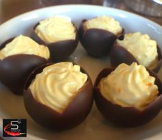 Twist on Gujrati Shrikand Served in Mini Chocolate Cups by S3 Catering #s3catering