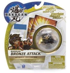 """Storm Skyress (Ventus)- Bakugan Bronze Attack New Vestroia Series - """" NOT Randomly Picked"""", Sold As Shown In The Picture! by Spin Master. $36.00. The new Bronze Bakugan racks up extra G-power from your opponent's gate card. Use your enemy's power against them to win! """"NOT"""" randomly picked, you are getting the same Bakugan as shown in the picture.. Include 1 Bronze Bakugan, 1 Bronze Ability Card, and 1 Metal Gate Card.. Warning! Risk of serious digestive injuries in th..."""