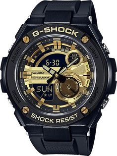G-Shock GST210B-1A9 Black Gold Digital Analog G-Steel