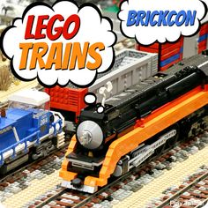 LEGO Trains at Seattle BrickCon 2014: building inspiration for little engineers, including a fun LEGO train video for kids!