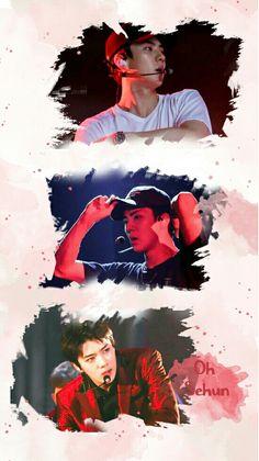 Sehun And Luhan, Exo Chanyeol, Dark Red Wallpaper, Exo Couple, Exo Concert, Exo Lockscreen, Exo Fan, Hunhan, Kpop Exo