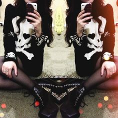 Spikes and skulls all the things I love x x