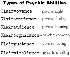 Many use these abilities to arrive at new realities.