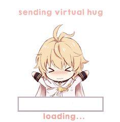 Resultado de imagem para sending virtual hug otaku